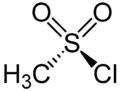 Methanesulfonyl Chloride Structural Formulae.png