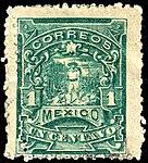 Mexico 1896-97 1c perf 12 Sc257 used.jpg