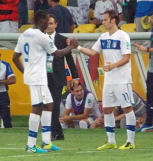 Alberto Gilardino - Gilardino entering the field in place of Mario Balotelli during the first match of the 2013 FIFA Confederations Cup, a 2–1 victory over Mexico.