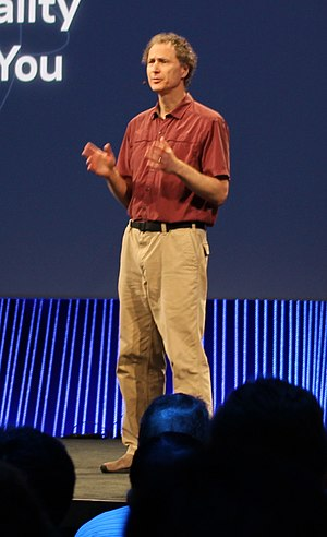 Michael Abrash - Michael Abrash as Oculus VR Chief Scientist on stage at Facebook's F8 2015