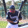 Michael Bourn takes live batting practice (25278890525).jpg