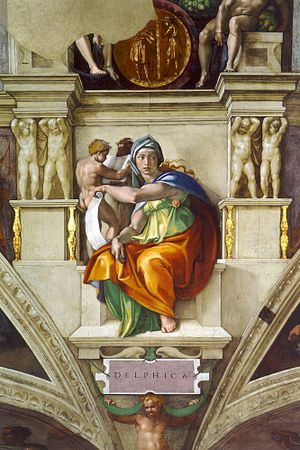 Delphic Sibyl - Michelangelo's rendering of the Delphic Sibyl