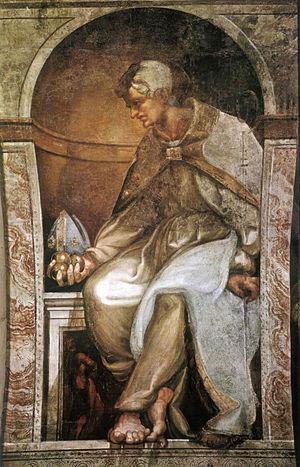 San Giovanni Evangelista (Parma) - St. Nicholas by Michelangelo Anselmi.