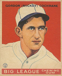 Mickey Cochrane American baseball player and manager