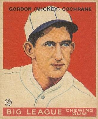 Mickey Cochrane - Cochrane 1933 Goudey baseball card