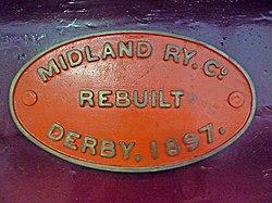 Midland Railway 2-4-0 Kirtley 156 Class Number 158A (6136958179).jpg