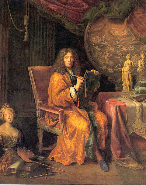 Pierre Mignard, Self-portrait, between 1670 and 1690, oil on canvas, 235 cm x 188 cm (93 in x 74 in), Louvre Mignard-autoportrait.jpg