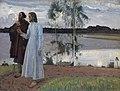 Mikhail Nesterov, Wayfarers. Beyond the Volga, 1922.jpg