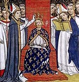 Coronation of Philip III.  of France, Grandes Chroniques de France, 14th century