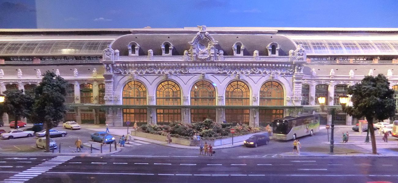 Miniature de la gare de Lyon-Brotteaux au musée du train miniature de Châtillon-sur-Chalaronne.