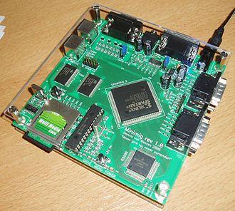 History of the Amiga - Minimig 120x120 mm PCB board (Nano-ITX size)