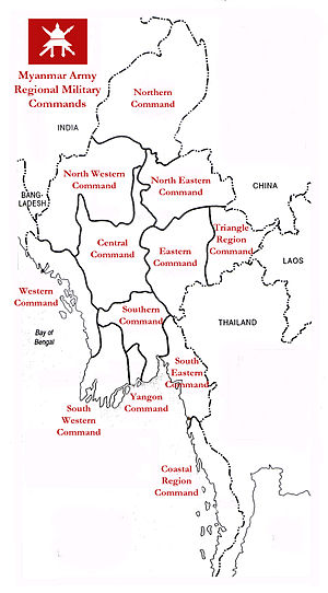 Myanmar Army - Image: Mm rmc map