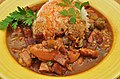 Mmm... chicken gumbo with Andouille and tasso (6751505711).jpg