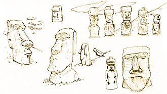 Thumbnail - Thumbnail sketches of Moai