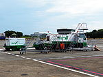 Mobile Open Gangways and Generator Truck in Chiayi Airport Apron 20120811.jpg