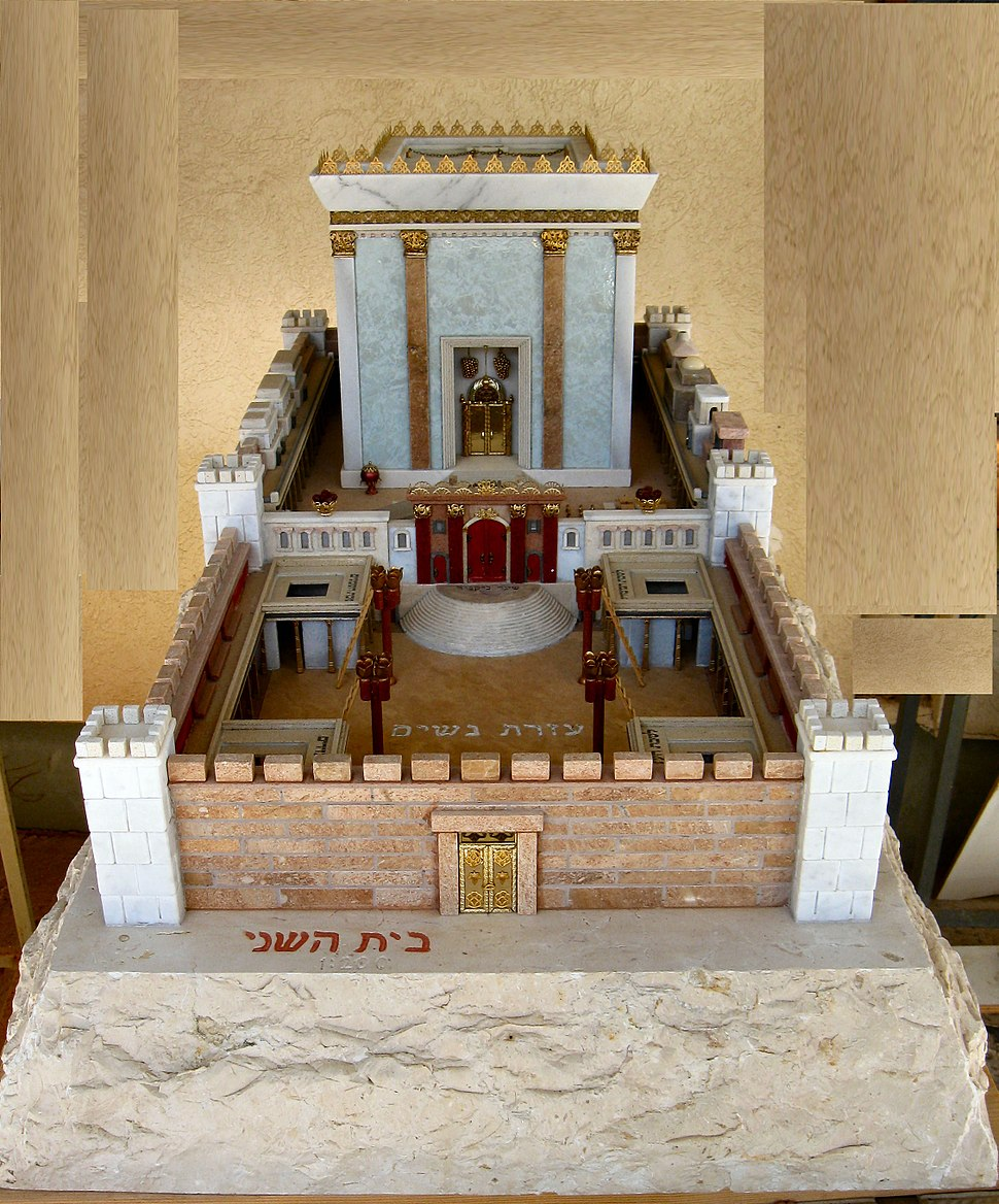 Model of Second Temple made by Michael Osnis from Kedumim 2