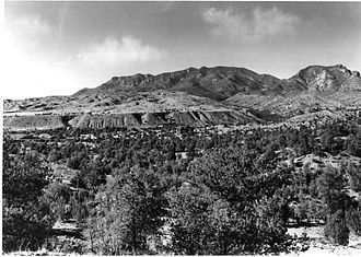 Mogollon Mountains - View of the Mogollon Range from U.S. Route 180