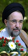Mohammad Khatami Visited the National student association camping-August 11, 2002.jpg