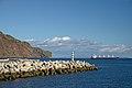 Mole in Funchal, Ponta do Garajau, statue of Cristo Rei and Desertas Islands. Madeira, Portugal.jpg