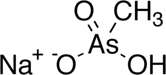Monosodium methyl arsonate - Image: Monosodium methyl arsenate