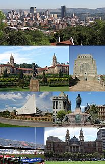 Pretoria National administrative capital of South Africa, located in Gauteng province