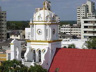 Montería - Colonial church in downtown Monteria.