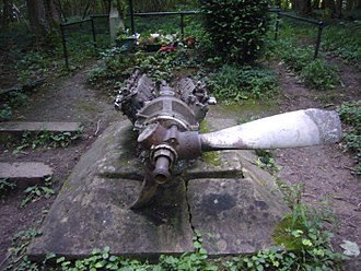Morane-Saulnier M.S.406 - Monument in Longpont (Aisne) where a French pilot was shot down in June 1940 by three Bf 109 and buried among his MS.406 remains.