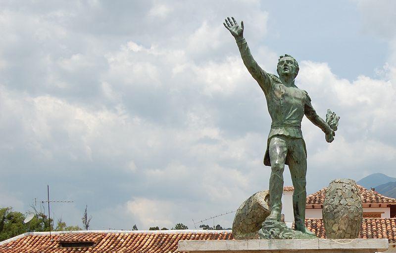 File:Monumento Antonio Ricaurte - Villa de Leyva.JPG