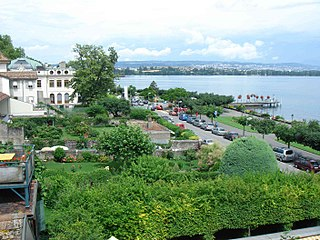 Morges Place in Vaud, Switzerland