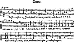 Thomas Morley - From a song by Morley from A Plaine and easie Introduction to Practical Musicke