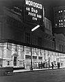 Morosco Theatre, New York City, at night.jpg