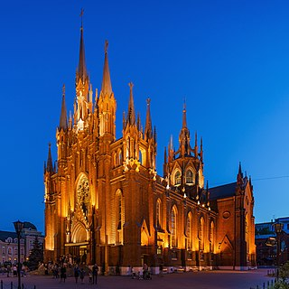 Cathedral of the Immaculate Conception (Moscow) Neo-Gothic Catholic cathedral in Moscow