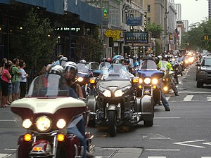 54th Street (Manhattan) - Motorcycle parade on West 54th