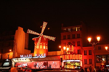 English: Moulin Rouge, Paris Español: Moulin R...