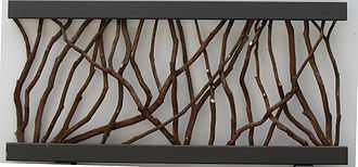 Kalmia latifolia - Wood railing section made with mountain laurel branches
