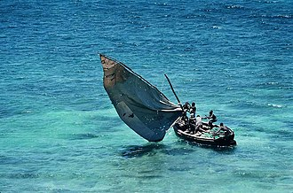 Marine propulsion - A wind propelled fishing boat in Mozambique