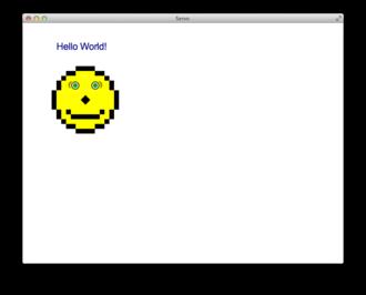 Servo (layout engine) - Mozilla Servo showing the Acid2 test