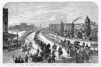 John Pascoe Fawkner - Funeral of Fawkner