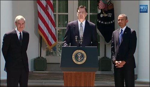Mueller comey obama september 2013