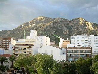 Tavernes de la Valldigna - Image: Muntanya de les Creus, vista des de Tavernes