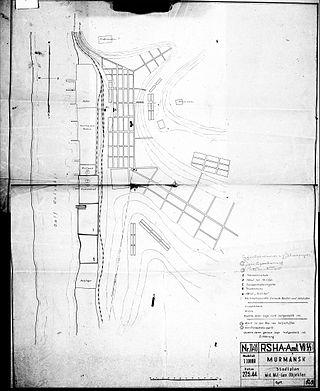 План-схема г. Мурманска 1944