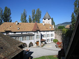 La Tour-de-Peilz Place in Vaud, Switzerland