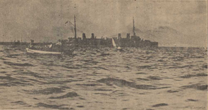 Musa Dagh - The French warship Guichen, pictured above, participated along with several cruisers in the rescue of some 4,000 Armenians who had taken shelter on Musa Dagh.