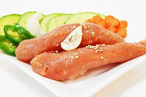 Pollock roe - Image: Myeongnanjeot (salted pollock roe)