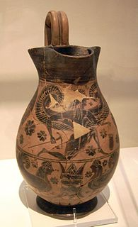ancient attic-greek black-figure vase-painter of black-figure style