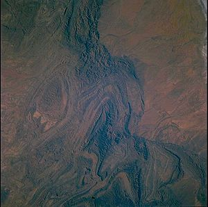 Flinders Ranges - Flinders Ranges from space