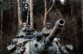NATO exercise codenamed A Certain Sentinel, in Nuremberg, Germany January 1986.