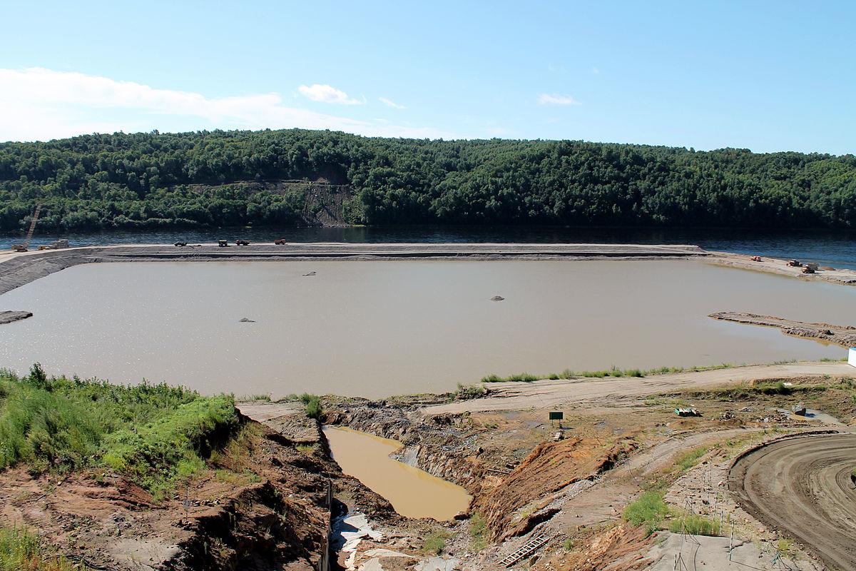 воткинском завод плотина схема