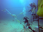 NEEMO 20 Crew stowing the mars moons boom.jpg