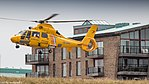 NHV Helicopters Netherlands Coastguard AS365 Dauphin cleared to land (35801764695).jpg